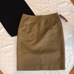 NWT Tan Pencil Skirt, 8